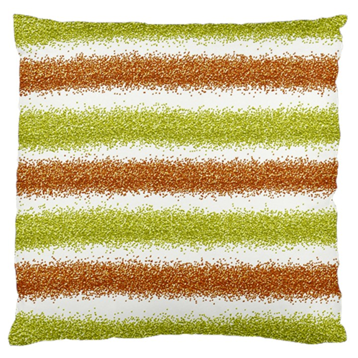Metallic Gold Glitter Stripes Standard Flano Cushion Case (One Side)