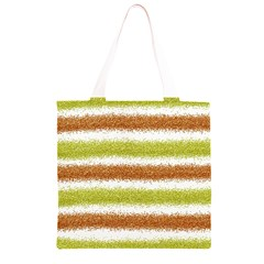 Metallic Gold Glitter Stripes Grocery Light Tote Bag