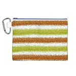 Metallic Gold Glitter Stripes Canvas Cosmetic Bag (L) Front