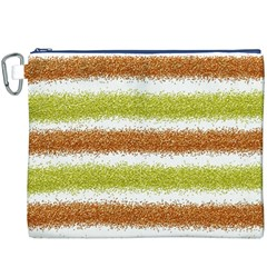 Metallic Gold Glitter Stripes Canvas Cosmetic Bag (XXXL)