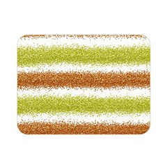 Metallic Gold Glitter Stripes Double Sided Flano Blanket (Mini)