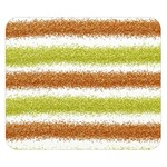 Metallic Gold Glitter Stripes Double Sided Flano Blanket (Small)  50 x40 Blanket Front