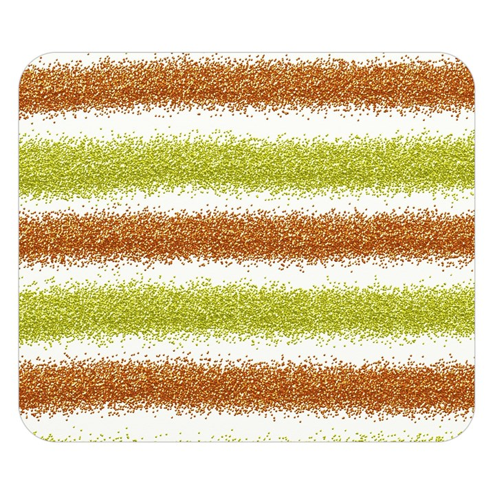 Metallic Gold Glitter Stripes Double Sided Flano Blanket (Small)