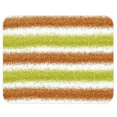 Metallic Gold Glitter Stripes Double Sided Flano Blanket (Medium)