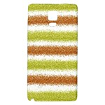 Metallic Gold Glitter Stripes Galaxy Note 4 Back Case Front