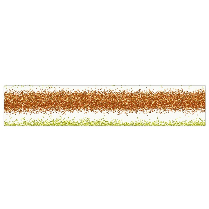 Metallic Gold Glitter Stripes Flano Scarf (Small)