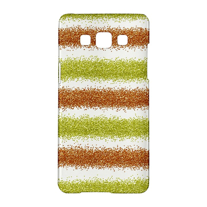 Metallic Gold Glitter Stripes Samsung Galaxy A5 Hardshell Case