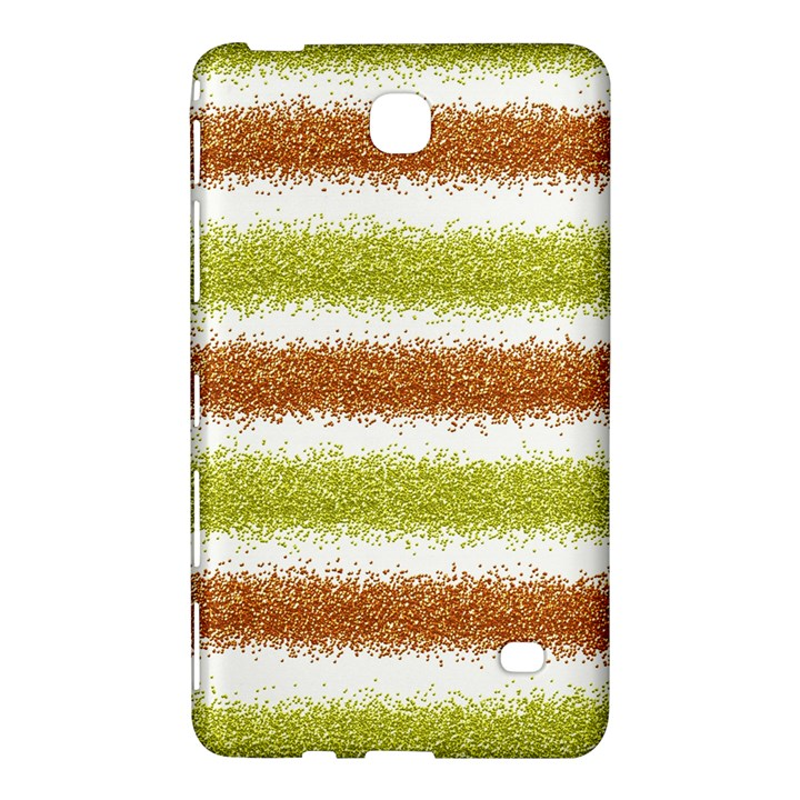 Metallic Gold Glitter Stripes Samsung Galaxy Tab 4 (7 ) Hardshell Case