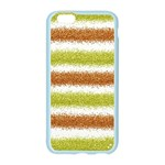 Metallic Gold Glitter Stripes Apple Seamless iPhone 6/6S Case (Color) Front