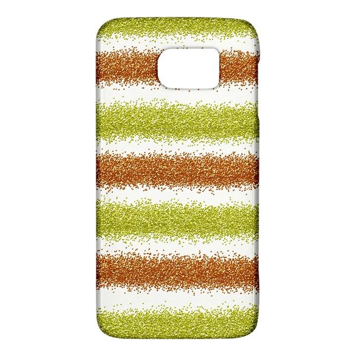 Metallic Gold Glitter Stripes Galaxy S6