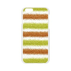 Metallic Gold Glitter Stripes Apple Seamless iPhone 6/6S Case (Transparent)