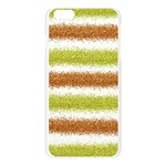 Metallic Gold Glitter Stripes Apple Seamless iPhone 6 Plus/6S Plus Case (Transparent) Front