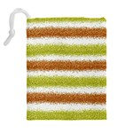 Metallic Gold Glitter Stripes Drawstring Pouches (Extra Large) Back