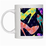 Colorful High Heels Pattern White Mugs Left