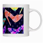 Colorful High Heels Pattern White Mugs Right