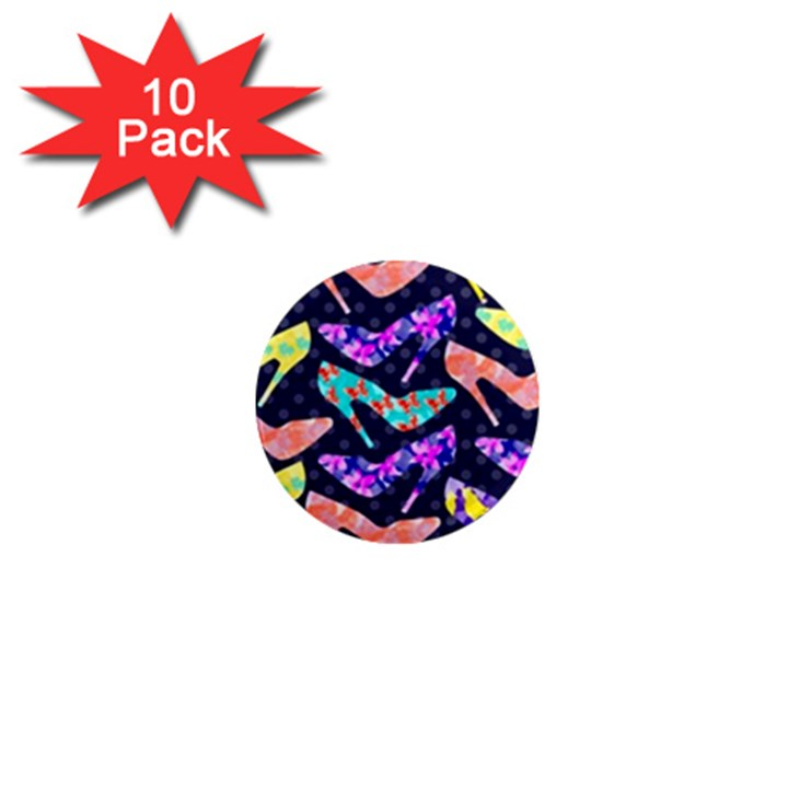 Colorful High Heels Pattern 1  Mini Magnet (10 pack)