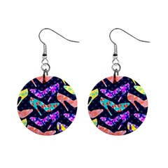 Colorful High Heels Pattern Mini Button Earrings