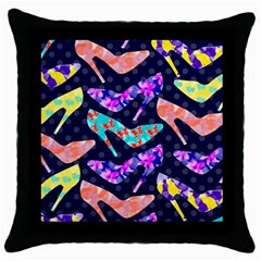 Colorful High Heels Pattern Throw Pillow Case (Black)
