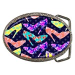Colorful High Heels Pattern Belt Buckles Front