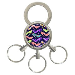 Colorful High Heels Pattern 3 Ring Key Chains