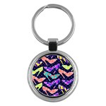 Colorful High Heels Pattern Key Chains (Round)  Front