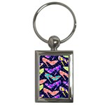 Colorful High Heels Pattern Key Chains (Rectangle)  Front