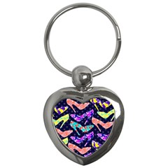 Colorful High Heels Pattern Key Chains (heart)