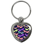 Colorful High Heels Pattern Key Chains (Heart)  Front