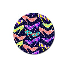 Colorful High Heels Pattern Magnet 3  (round)
