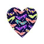Colorful High Heels Pattern Heart Magnet Front