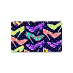 Colorful High Heels Pattern Magnet (Name Card) Front
