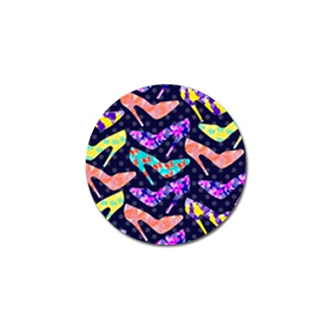 Colorful High Heels Pattern Golf Ball Marker