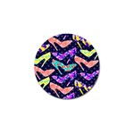 Colorful High Heels Pattern Golf Ball Marker Front