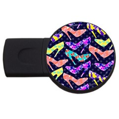 Colorful High Heels Pattern USB Flash Drive Round (2 GB)