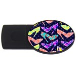 Colorful High Heels Pattern USB Flash Drive Oval (2 GB)  Front