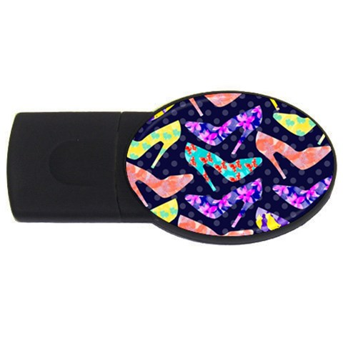 Colorful High Heels Pattern USB Flash Drive Oval (1 GB)