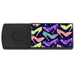 Colorful High Heels Pattern USB Flash Drive Rectangular (1 GB)  Front