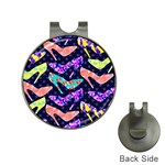 Colorful High Heels Pattern Hat Clips with Golf Markers Front