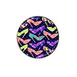 Colorful High Heels Pattern Hat Clip Ball Marker (4 pack) Front