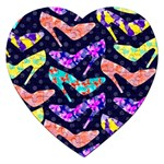 Colorful High Heels Pattern Jigsaw Puzzle (Heart) Front