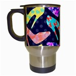 Colorful High Heels Pattern Travel Mugs (White) Left
