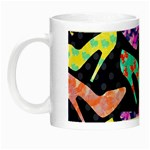 Colorful High Heels Pattern Night Luminous Mugs Left