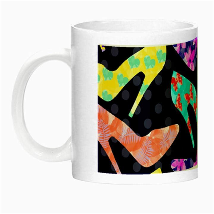 Colorful High Heels Pattern Night Luminous Mugs