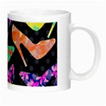 Colorful High Heels Pattern Night Luminous Mugs Right