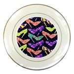 Colorful High Heels Pattern Porcelain Plates Front