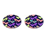Colorful High Heels Pattern Cufflinks (Oval) Front
