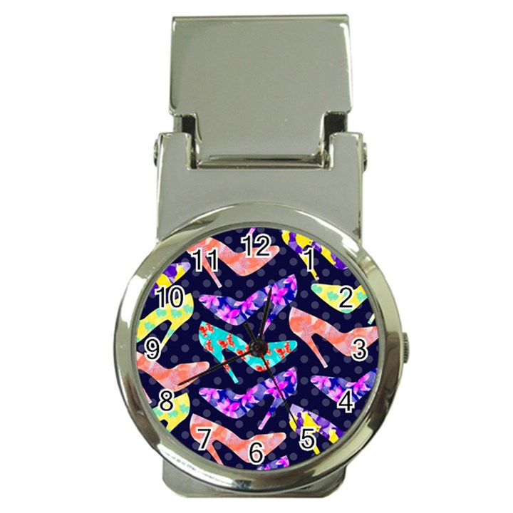 Colorful High Heels Pattern Money Clip Watches