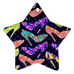 Colorful High Heels Pattern Star Ornament (Two Sides)