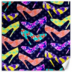 Colorful High Heels Pattern Canvas 16  X 16