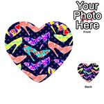 Colorful High Heels Pattern Playing Cards 54 (Heart)  Front - Heart9